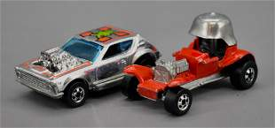 Two Blackwall Hot Wheels Gremlin Grinder and Red Baron