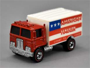 Hot Wheels Flying Colors American hauler with red cab