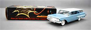 Nice 1960 SMP Chevy station wagon friction promo car in
