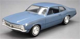 1970 Ford Maverick dealer promo car blue