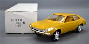 1970 Ford Pinto dealer promo car in original box golden