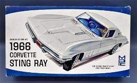 Unbuilt MPC 1966 Corvette Stingray 1/25 scale model kit