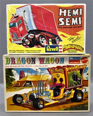 Built up Monogram Dragon Wagon and factory sealed Revel