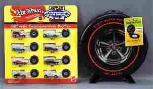Hot Wheels Vintage series 8 car set on large card plus