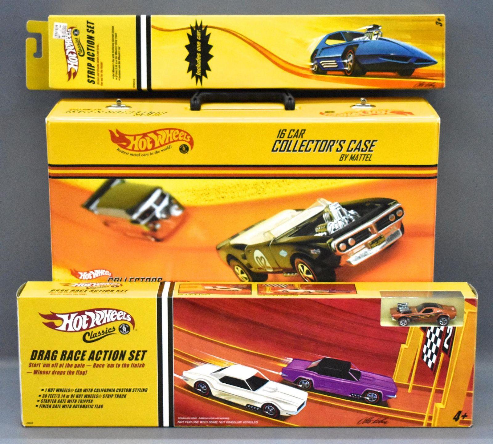 Hot Wheels Classics collectors case plus two factory
