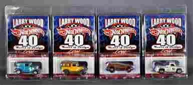 Four Hot Wheels Redline Club Larry Wood 40 Years of
