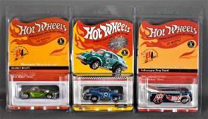Three Hot Wheels Redline Club rewards series cars MOC