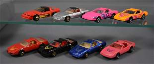 Group of eight Blackwall Hot Wheels Corvettes and