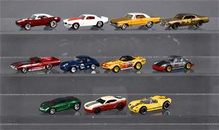 Eleven loose Hot Wheels Real Riders die cast cars