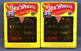 Two Hot Wheels 25th anniversary series #1 sets MIB