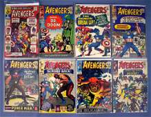 Eight Marvel Avengers comic books 10-25