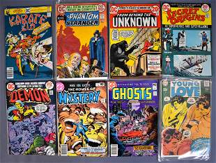 Eight mixed DC comic books from the 1960's and 70's