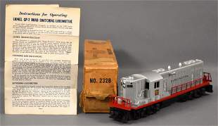 Lionel postwar O 2328 Burlington GP-7 diesel locomotive