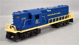 Lionel postwar O 2365 C&O GP-7 diesel locomotive