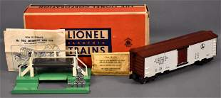 Lionel postwar O 3662 operating milk car set in