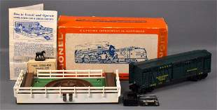 Lionel postwar O 3356 operating horse car and corral