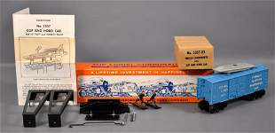 Lionel postwar O 3357 AQUA cop and hobo car set in