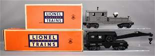 Lionel postwar O 6420 6460 work crane and caboose in