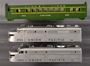 Lionel postwar O Union Pacific Alco shells and unused