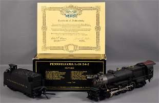 Weaver O scale brass 3-rail Pennsylvania L-1S 2-8-2 in