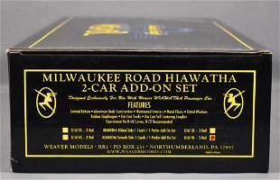 Weaver O scale 3-rail Milwaukee Road Hiawatha smooth