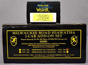 Weaver O scale 3-rail Milwaukee Road Hiawatha ribbed