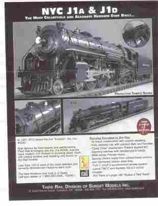 Factory sealed Sunset 3rd rail O scale 3 rail brass NYC