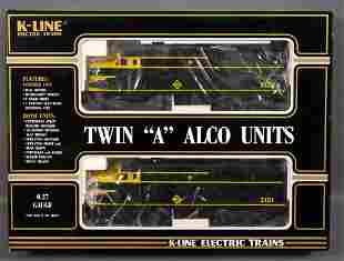 K-Line O gauge Erie Alco FAA set in original box
