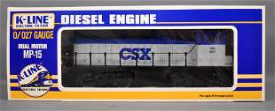 K-Line O gauge CSX MP-15 diesel locomotive in original