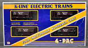 Factory sealed K-Line O gauge Southern Pacific 4-pac