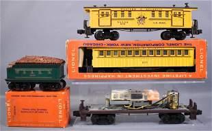 Group of Lionel postwar O General passenger cars and