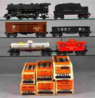 Lionel postwar O 463W steam freight set in original