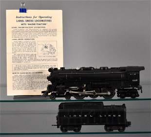 Lionel postwar O 665 steam locomotive with 6026W tender