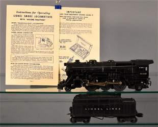 Lionel postwar O 2035 steam locomotive with 2466WX