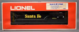 Lionel modern era O Santa Fe GP-9 diesel locomotive in