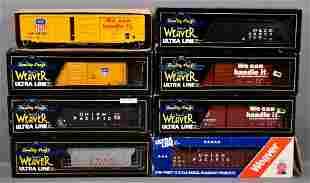 Eight Weaver O gauge mixed freight cars in original