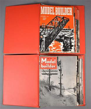 Twenty-two issues of Model Builder magazine from 1942