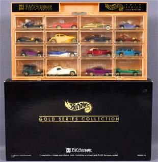 Hot Wheels FAO Schwarz Gold Series Collection #1 set in