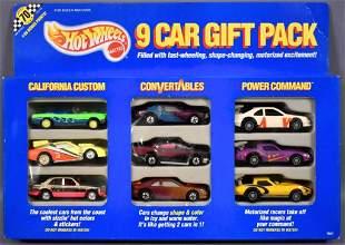 1990 Mattel Hot Wheels 9 car Gift pack in original box