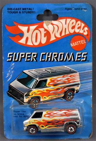 Redline Hot Wheels Super Chromes Super Van on sealed