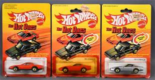 Three Hot Wheels Hot Ones die cast cars on sealed