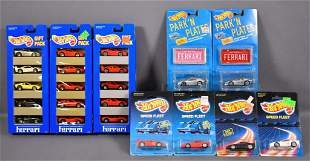 Group of Hot Wheels Ferrari gift packs and individual