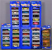 Eight different Hot Wheels 5-car gift packs