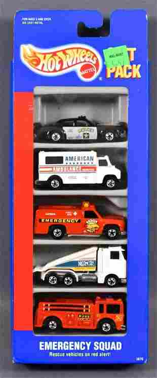 Hot Wheels Emergency Squad gift pack with International