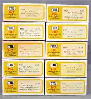 Ten TMI Train Miniature HO scale wood sheathed reefer