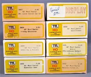 Seven TMI Train Miniature HO scale 40' wood reefer kits