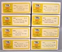 Eight TMI Train Miniature HO scale 40' ARA wood