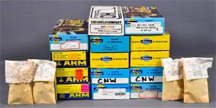 Group of vintage Athearn and AHM HO scale trains in
