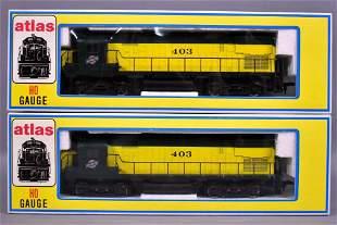Two Atlas HO scale Chicago & Northwestern Alco C-245
