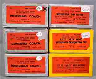Six used Suydam brass HO scale traction models in